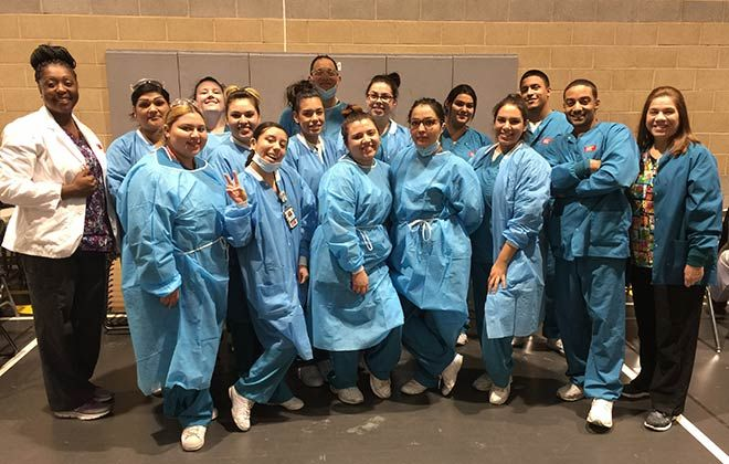 ACC-Ontario Dental Students Volunteer Services At Corona-Norco USD Event Galley
