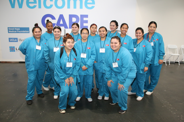 ACC-LA Dental Assisting Students Volunteer at Care Harbor