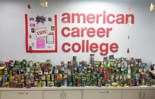 ACC-LA Collects 1,500 Cans for Food Drive Galley