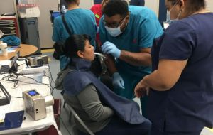 ACC-OC Dental Assisting Students Get 'Two Thumbs Up' at Lestonnac Free Clinic Galley