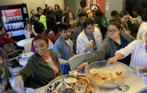 ACC-Los Angeles Thanks Students With St. Paddy Day's Themed Bagel Breakfast Gallery
